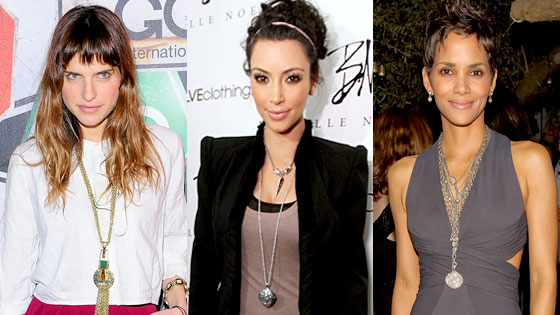 celebrity pendant necklaces