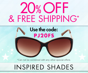 20% off and free shipping at inspired shades