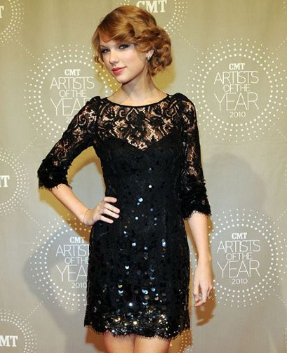 taylor swift black lace
